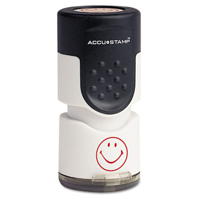 Cosco 030725 Accustamp Pre-Inked Round Stamp with Microban