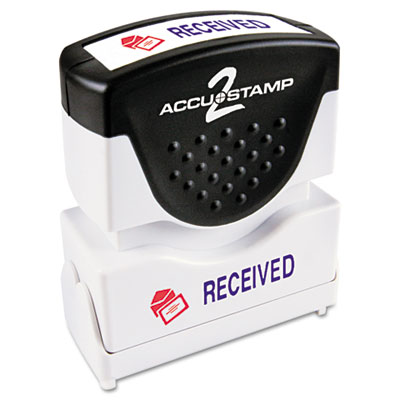 Cosco 035537 ACCUSTAMP2 Pre-Inked Shutter Stamp with Microban