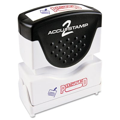 Cosco 035521 ACCUSTAMP2 Pre-Inked Shutter Stamp with Microban