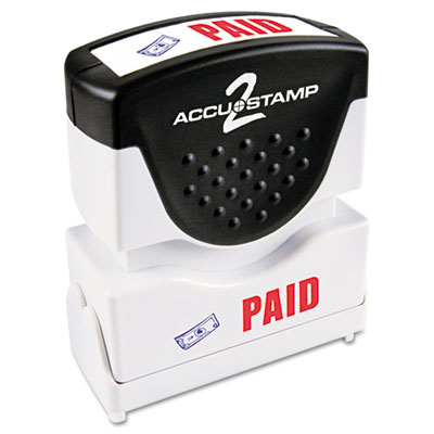 Cosco 035535 ACCUSTAMP2 Pre-Inked Shutter Stamp with Microban