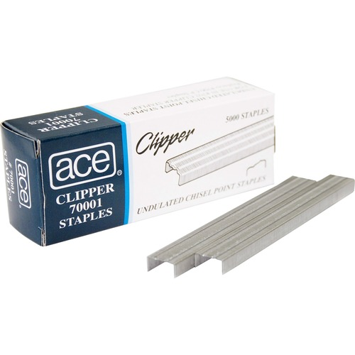Advantus 70001 Ace Undulated Clipper Staples