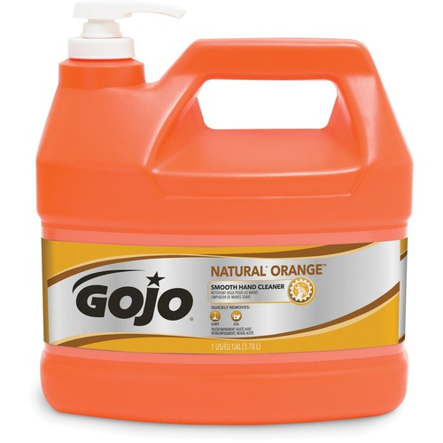 GOJO 094504 Natural Orange Smooth Heavy-duty Hand Cleaner