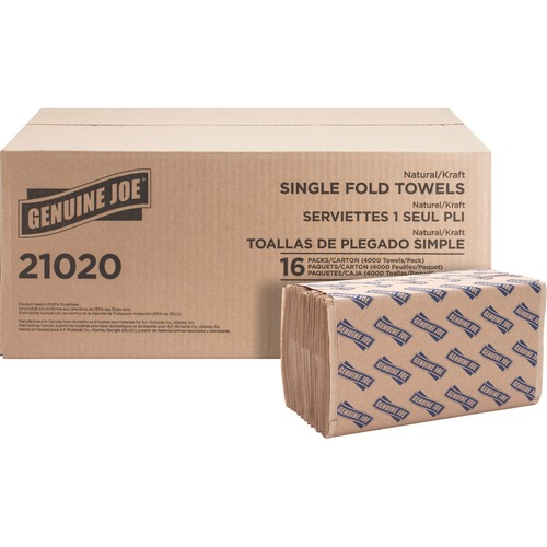 Genuine Joe 21020 Single-Fold Value Paper Towels