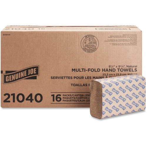 Genuine Joe 21040 Multifold Natural Towels