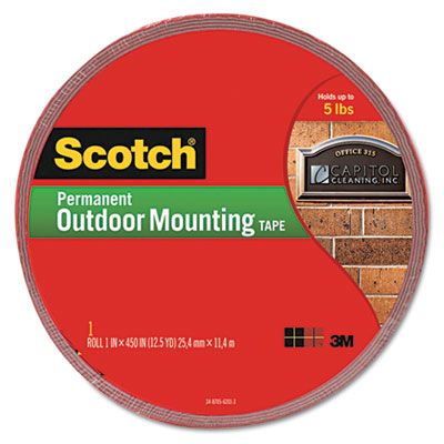 3M 4011LONG Scotch Permanent Heavy Duty Interior/Exterior Mounting Tape