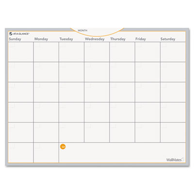 AT-A-GLANCE AW502028 WallMates Self-Adhesive Dry Erase Planning Surfaces