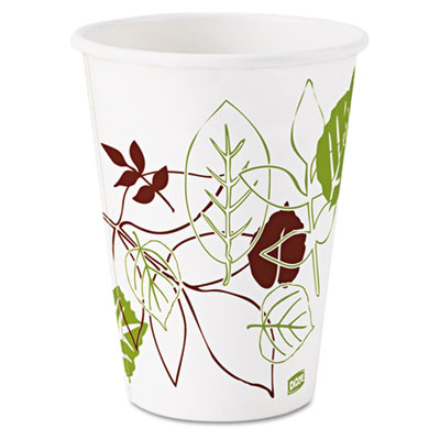 Dixie 2342WS Pathways Paper Hot Cups