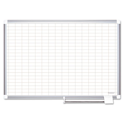 Bi-Silque Visual Communication Products CR1230830 MasterVision Grid Platinum Plus Magnetic Porcelain Dry Erase Board