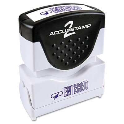 Cosco 035573 ACCUSTAMP2 Pre-Inked Shutter Stamp with Microban