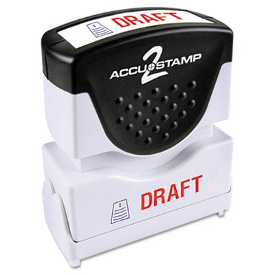 Cosco 035542 Accustamp2 Pre-Inked Shutter Stamp with Microban