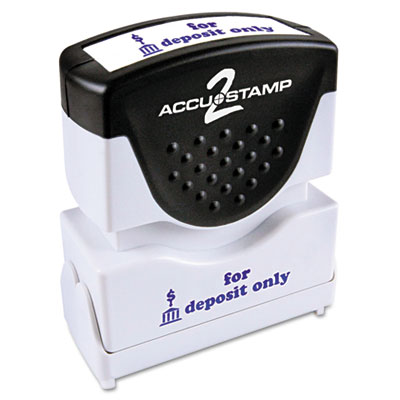 ACCUSTAMP2 035601 Pre-Inked Shutter Stamp with Microban