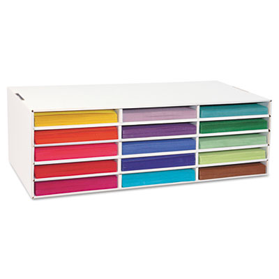 Pacon 001310 Classroom Keepers Construction Paper Storage Box