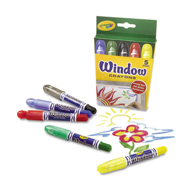 Binney &  Smith 529765 Crayola Washable Window Crayons