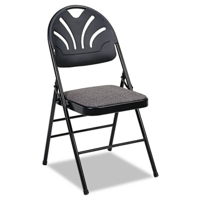 Cosco 36875KNB4 Fanfare Fabric Padded Seat & Deluxe Molded Back Folding Chair