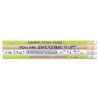 Moon 8207 Products Award Pencil Motivational Assortment