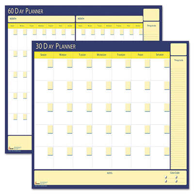 AbilityOne 5850980 SKILCRAFT 30-Day/60-Day Undated Reversible/Erasable Flexible Planner