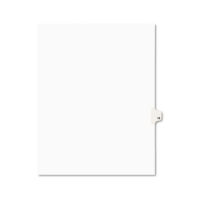 Avery 01016 Preprinted Legal Exhibit Index Tab Dividers with Black and White Tabs