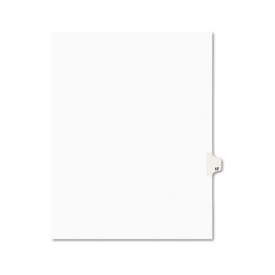 Avery 01017 Preprinted Legal Exhibit Index Tab Dividers with Black and White Tabs