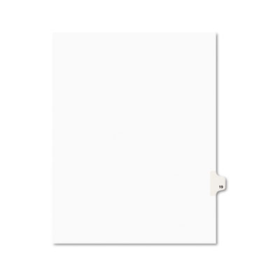 Avery 01019 Preprinted Legal Exhibit Index Tab Dividers with Black and White Tabs