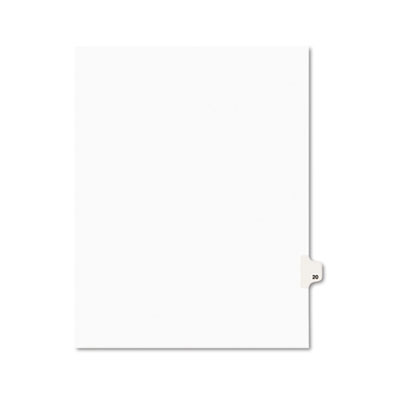 Avery 01020 Preprinted Legal Exhibit Index Tab Dividers with Black and White Tabs