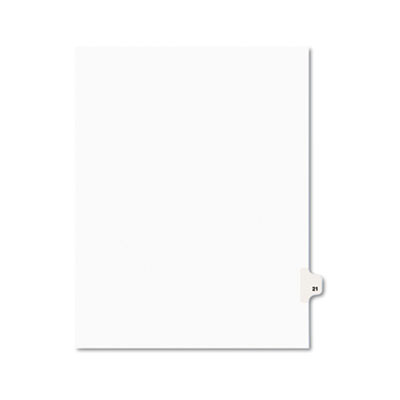 Avery 01021 Preprinted Legal Exhibit Index Tab Dividers with Black and White Tabs