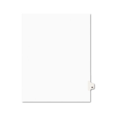Avery 01022 Preprinted Legal Exhibit Index Tab Dividers with Black and White Tabs