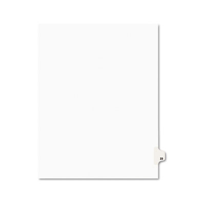 Avery 01023 Preprinted Legal Exhibit Index Tab Dividers with Black and White Tabs
