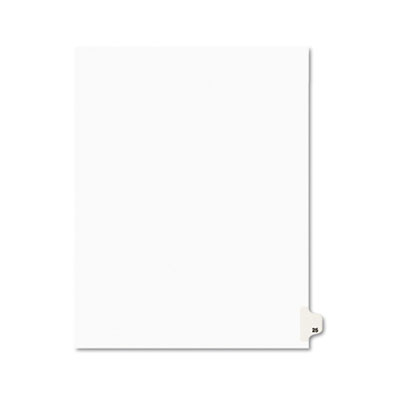 Avery 01025 Preprinted Legal Index Tab Dividers with Black and White Tabs