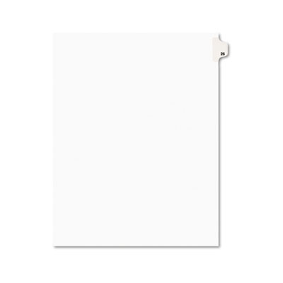 Avery 01026 Preprinted Legal Index Tab Dividers with Black and White Tabs