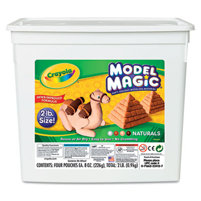 Binney &  Smith 232412 Crayola Model Magic Naturals Modeling Compound