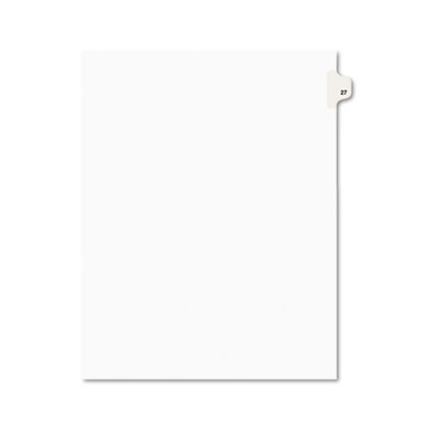 Avery 01027 Preprinted Legal Index Tab Dividers with Black and White Tabs