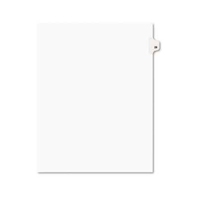 Avery 01028 Preprinted Legal Index Tab Dividers with Black and White Tabs