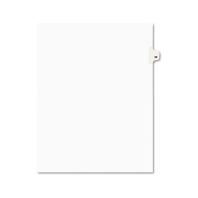 Avery 01030 Preprinted Legal Index Tab Dividers with Black and White Tabs