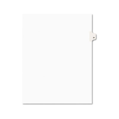 Avery 01031 Preprinted Legal Index Tab Dividers with Black and White Tabs