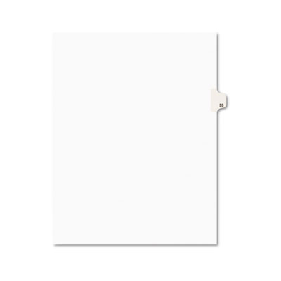Avery 01033 Preprinted Legal Index Tab Dividers with Black and White Tabs