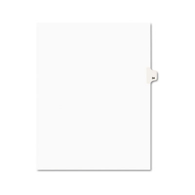 Avery 01034 Preprinted Legal Index Tab Dividers with Black and White Tabs