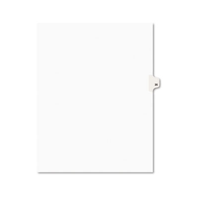 Avery 01035 Preprinted Legal Index Tab Dividers with Black and White Tabs