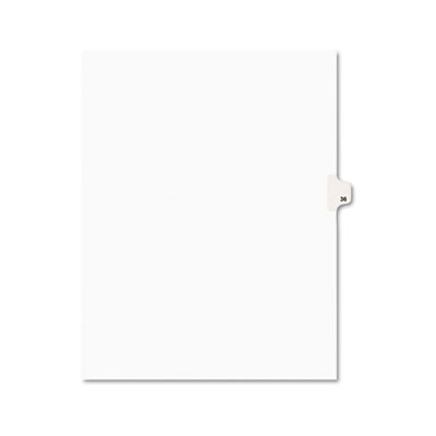 Avery 01036 Preprinted Legal Index Tab Dividers with Black and White Tabs