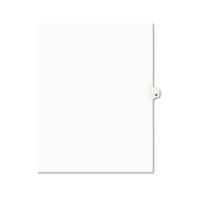 Avery 01037 Preprinted Legal Index Tab Dividers with Black and White Tabs