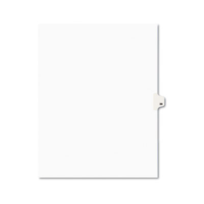 Avery 01038 Preprinted Legal Index Tab Dividers with Black and White Tabs