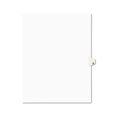 Avery 01039 Preprinted Legal Index Tab Dividers with Black and White Tabs