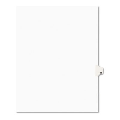 Avery 01041 Preprinted Legal Index Tab Dividers with Black and White Tabs