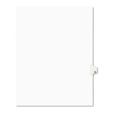 Avery 01042 Preprinted Legal Index Tab Dividers with Black and White Tabs