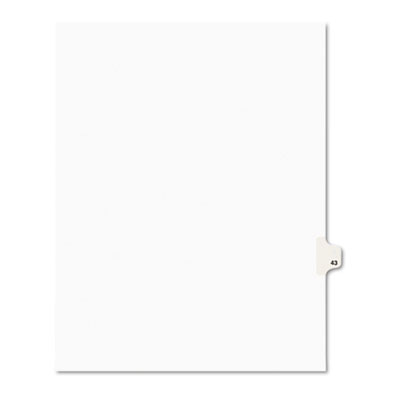 Avery 01043 Preprinted Legal Index Tab Dividers with Black and White Tabs