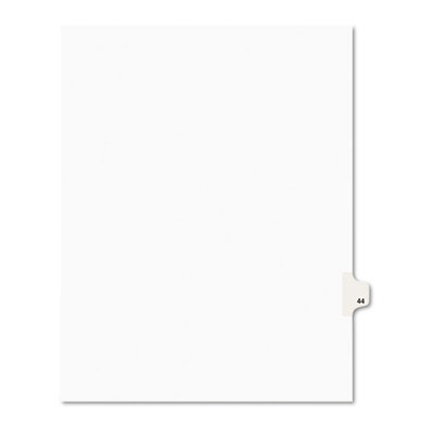 Avery 01044 Preprinted Legal Index Tab Dividers with Black and White Tabs