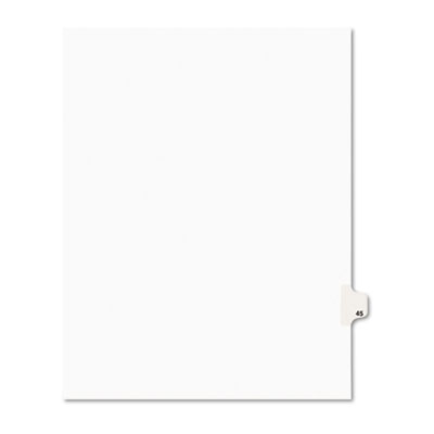Avery 01045 Preprinted Legal Index Tab Dividers with Black and White Tabs