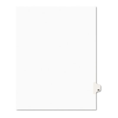 Avery 01046 Preprinted Legal Index Tab Dividers with Black and White Tabs
