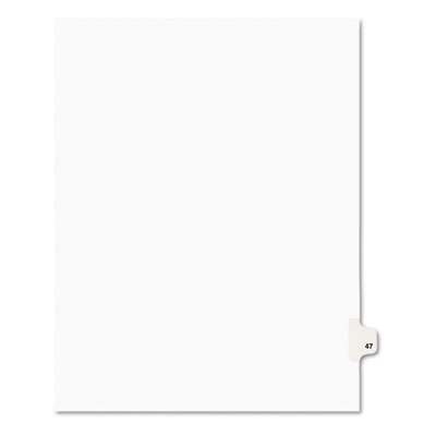 Avery 01047 Preprinted Legal Index Tab Dividers with Black and White Tabs