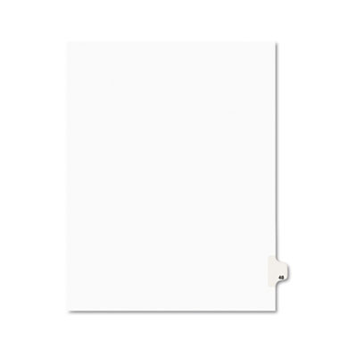 Avery 01048 Preprinted Legal Index Tab Dividers with Black and White Tabs
