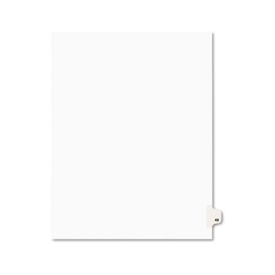 Avery 01049 Preprinted Legal Index Tab Dividers with Black and White Tabs